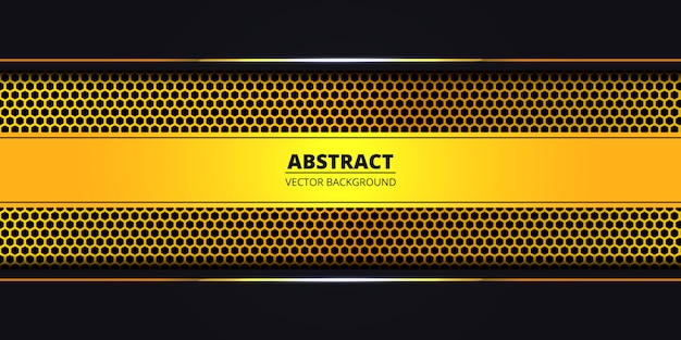 Abstract background with golden hexagon carbon fiber. luxury background with golden luminous lines. futuristic, modern, luxury backdrop. .