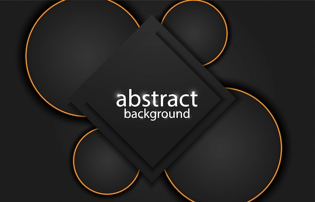 Abstract background with golden lines