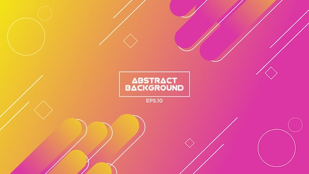 Abstract background with gradient color and geometric shape