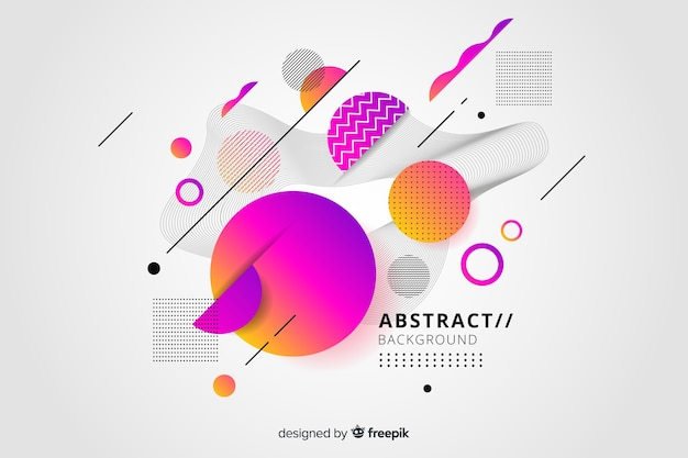Abstract background with gradient effect