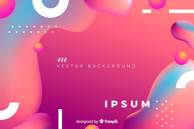 Abstract background with gradient fluid shapes