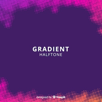 Abstract background with gradient halftone effect