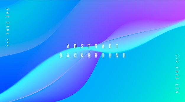 Abstract background with gradient waves