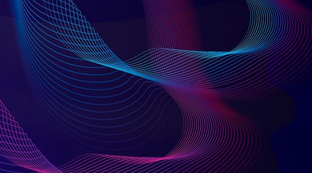 Абстрактный фон с градиентными волнистыми линиями