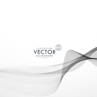 Abstract background with gray wavy lines