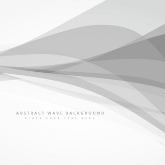 Abstract background with grey waves