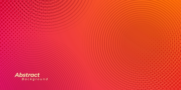 Abstract background with halftone circle line and dots.