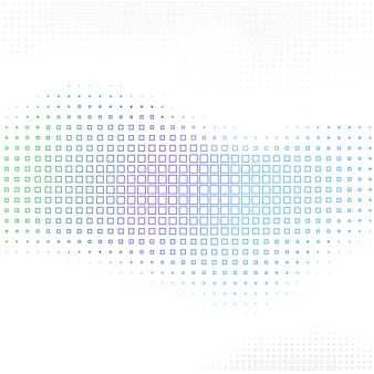 Abstract background with halftone square shapes