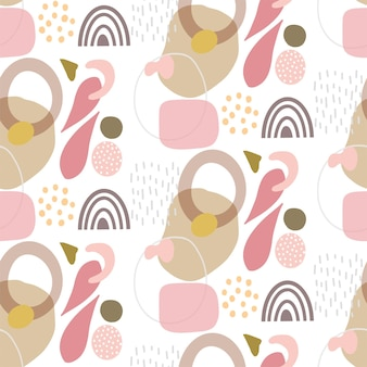 Abstract background with a hand drawn shapes design pattern