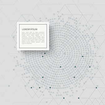 Abstract background with hexagon pattern and dots