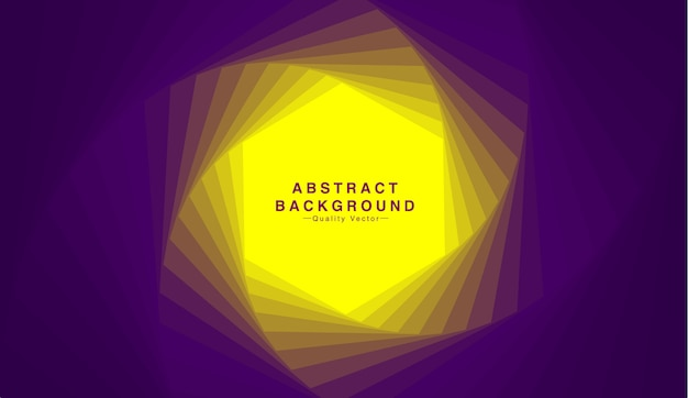 Abstract background with hexagon shape in yellow and purple tone.