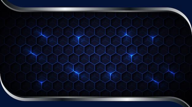Абстрактный фон с шестигранной формы