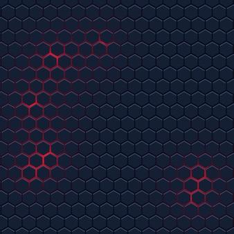 六角形パターンと抽象的な背景