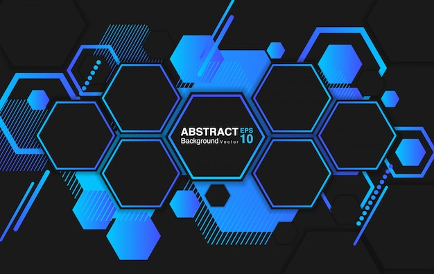 Abstract background with hexagons. futuristic background concept.