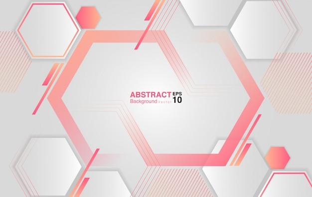 六角形と抽象的な背景。未来的な背景のコンセプト。