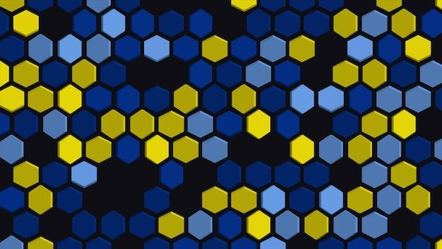 육각형 기하학적 패턴으로 추상적인 배경