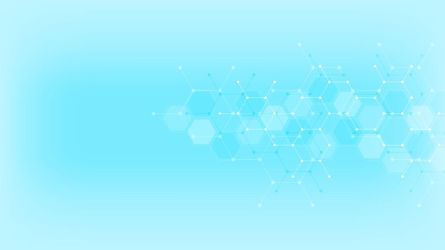 Abstract background with hexagons pattern.