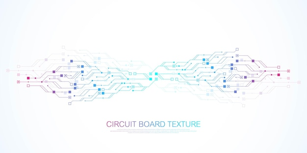 Abstract background with high-tech technology texture circuit board texture. abstract circuit board banner wallpaper. electronic motherboard vector illustration