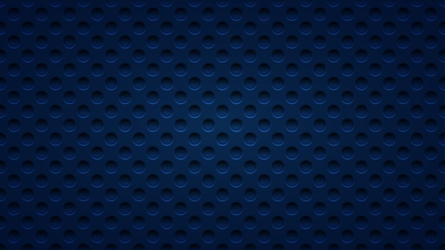 Abstract background with holes in dark blue colors