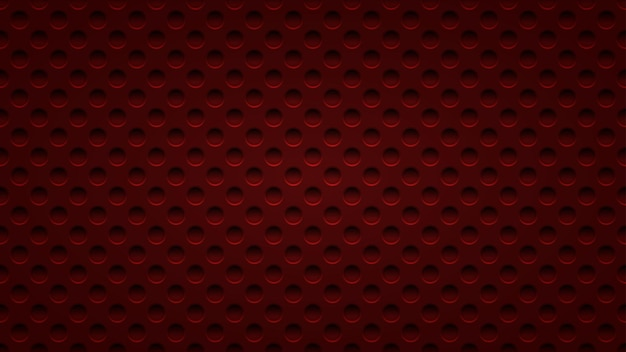Abstract background with holes in dark red colors