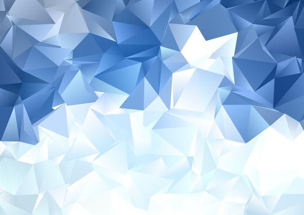 Sfondo astratto con un design poli basso blu ghiaccio