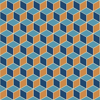 Abstract background with an isometric cube seamless pattern design