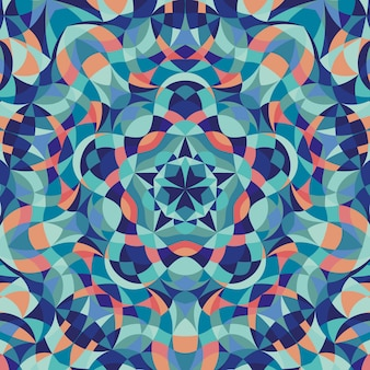 Abstract background with kaleidoscope geometric colorful pattern