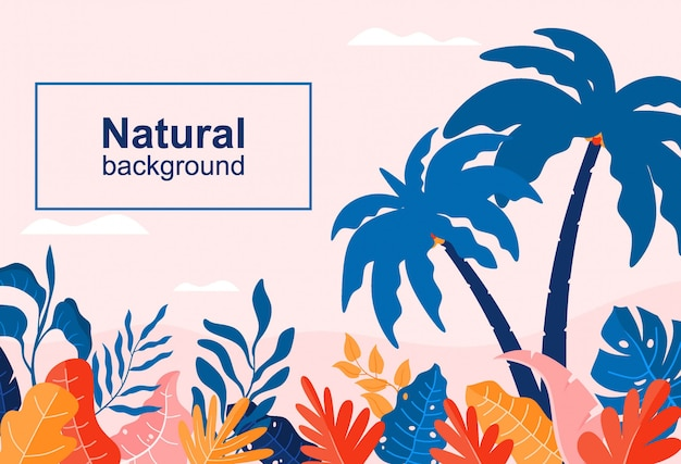 Abstract background with leaves - banner template with copy space for text.
