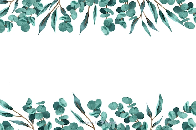 Abstract background with leaves frame