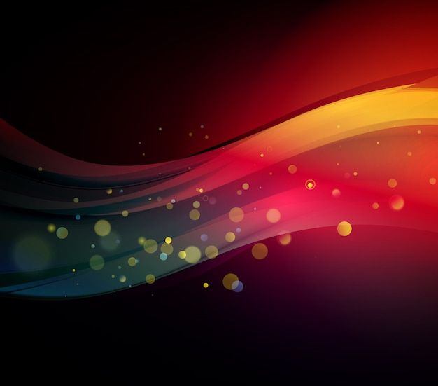 Abstract background with lighted waves.