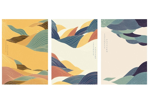 Abstract background with line pattern vector. wave and curve elements.