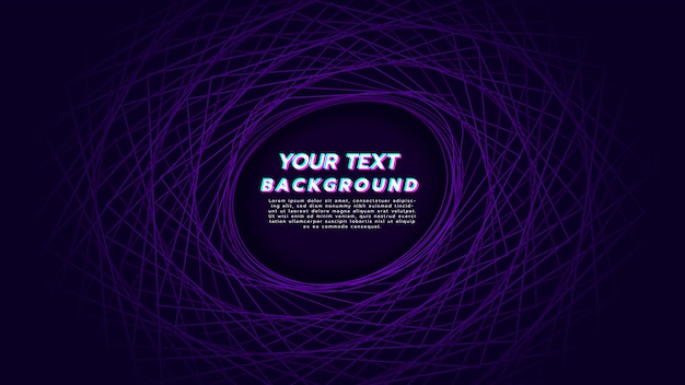 Abstract background with linear spin to be circle in purple color.