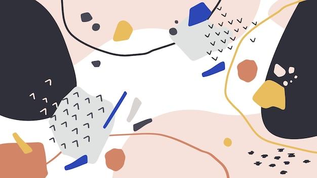 Абстрактный фон с линиями и формами