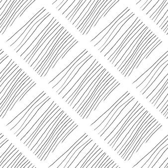 Абстрактный фон с линиями. черно-белые хаотические линии бесшовные рисованной текстуры.