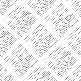 Abstract background with lines. black and white chaotic lines seamless pattern hand drawn texture.
