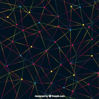 Abstract background with lines and dots