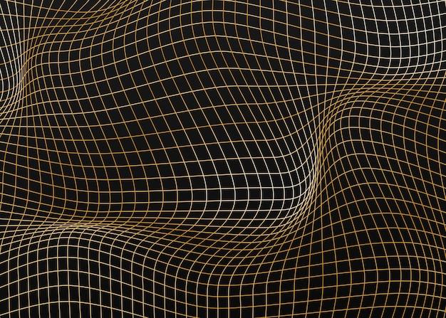 線と抽象的な背景。幾何学的で波状。