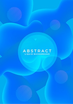 Abstract background with liquid effect