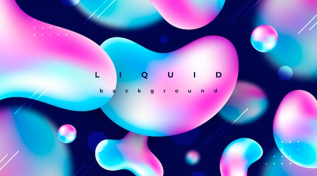 Abstract background with liquid elements