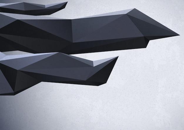 Абстрактный фон с низкополигональными кристаллами