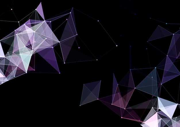 Abstract background with a low poly plexus design