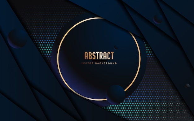 Abstract background with luxury black and blue color