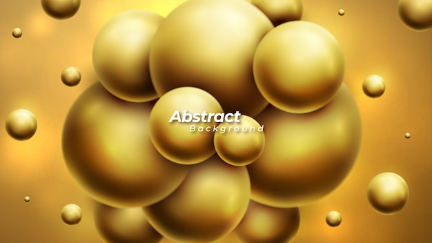Abstract background with luxury dynamic 3d spheres.