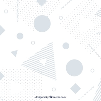 Abstract background with memphis shapes