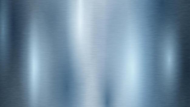 水色の金属の質感と抽象的な背景