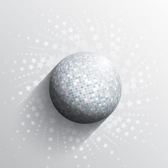 Astratto con un design palla a specchio
