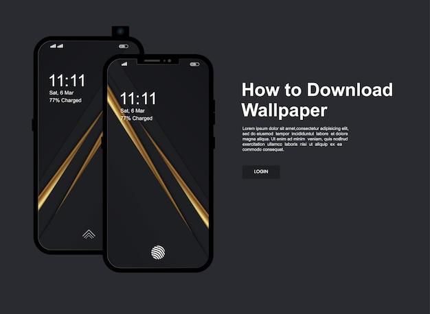 携帯電話の画面と抽象的な背景