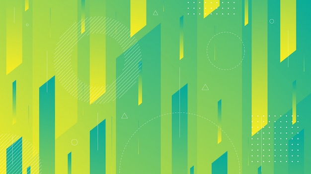 Abstract background with modern isometric line and memphis element.