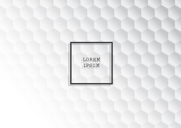 Abstract background with monochrome hexagonal pattern