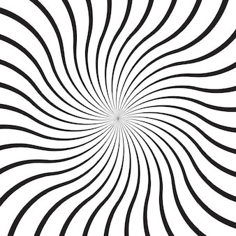 Abstract background with monochrome radial rays, lines or stripes curving around center